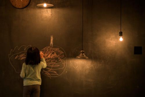 自邸リビング黒板3